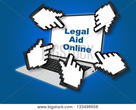 Legal Aid Online Help Concept