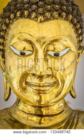 Buddha Statue in Bangkok, Thailand. Generally in Thailand, any kinds of decorated in Buddhist church, etc. they are public domain of Buddhism