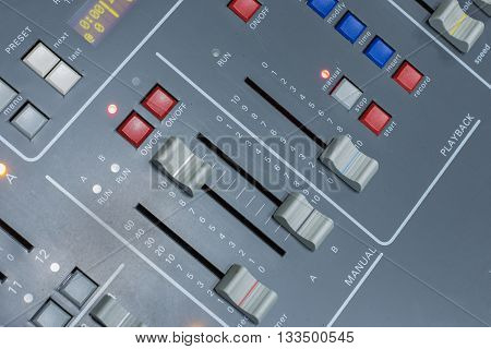 buttons equipment for lighting mixer control .
