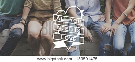 All You Need Is Love Heart Graphic Concept