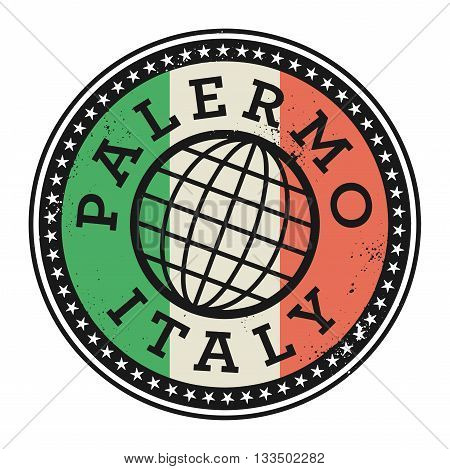 Grunge rubber stamp with the text Palermo, Italy, vector illustration
