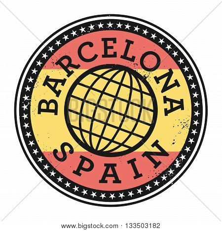 Grunge rubber stamp with the text Barcelona, Spain, vector illustration
