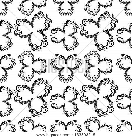 Floral abstract seamless pattern EPS8 - vector graphics.