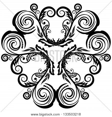 Circle floral ornament design element EPS8 - vector graphics.