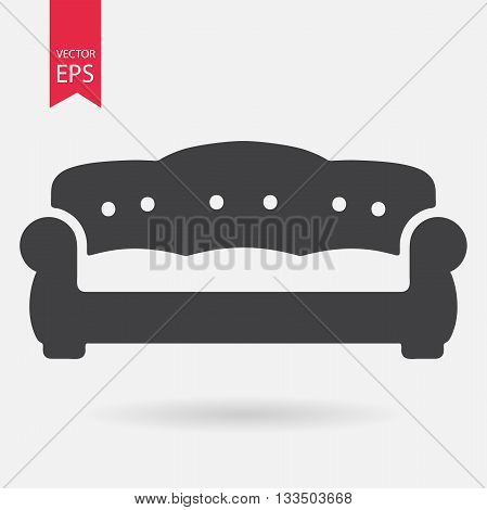 Sofa Icon Vector. Flat design. Simple sign isolated on white background