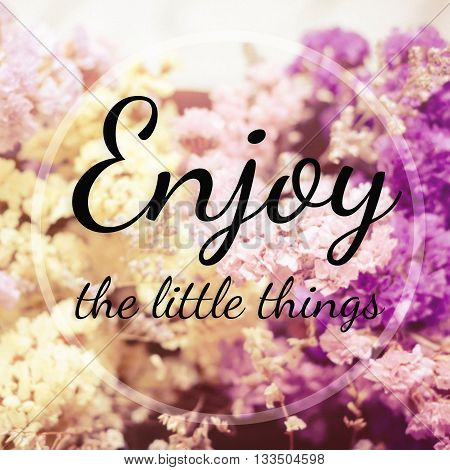 Inspirational quote : Enjoy the little things