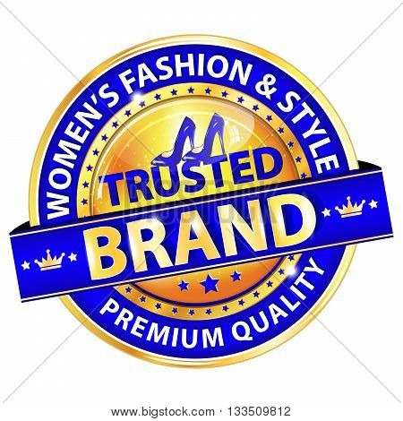 Trusted Brand. Women's Fashion and Style. Premium Quality - luxurious blue label for retailers specialized in selling women's clothes and accessories