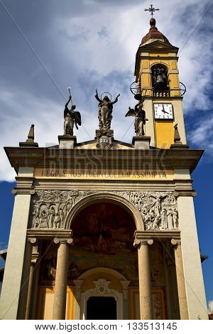 Cairate Varese Italy   The Old  Terrace Church Watch Bell Clock Tower