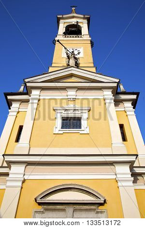 Cislago Old Abstract    Italy   The    Church Tower Bell Sunny Day