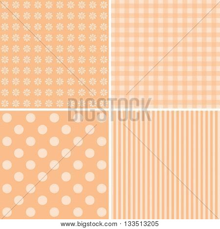 Vector set of 4 backgrounds. Great for scrapbook baby shower greeting cards.