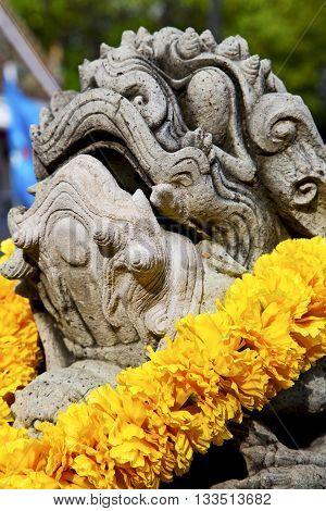 Demon In The Temple Bangkok Asia   Stone  Warrior Monster