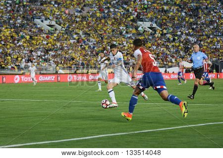James Rodriguez Attacking During Copa America Centenario