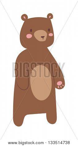 Cartoon bear vector illustration.