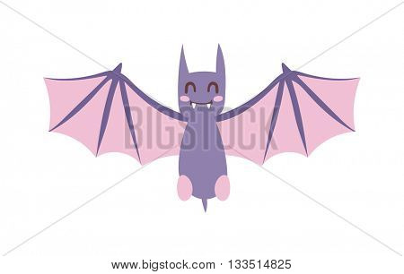 Cartoon Bat vector illustration.