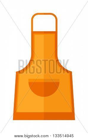 Kitchen apron cooking chef uniform vector illustration.