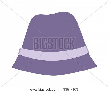 Panama hat vector illustration.