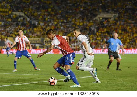 Jorge Benitez Attacking During Copa America Centenario