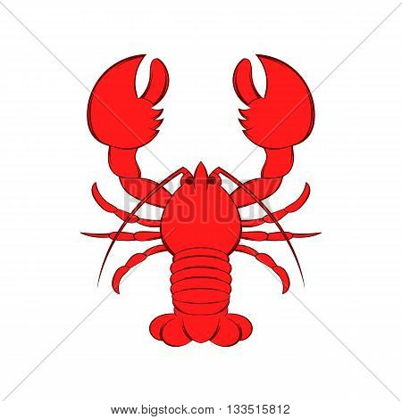 Crayfish icon in cartoon style on a white background