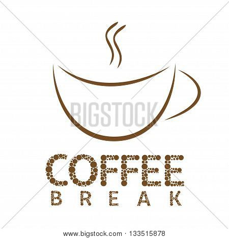 Coffee break. Cup sign. Coffee aroma Vector illustration
