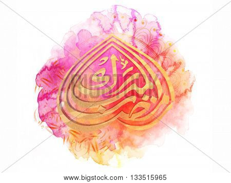 Creative Arabic Islamic Calligraphy of text Ramazan on abstract colourful background for Holy Month of Muslim Community Festival celebration.