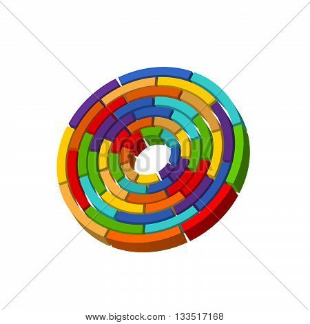 icon wheel. A wheel color of a rainbow on a white background