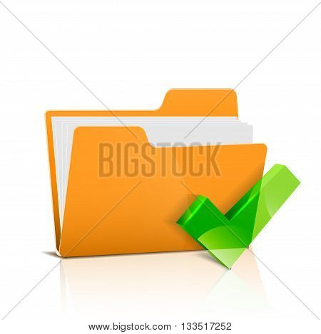 Yellow file folder isolated on a white background.   vector illustration.