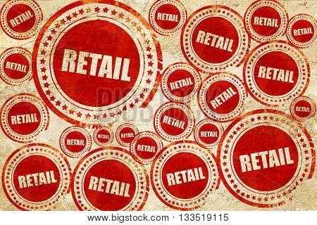 retail, red stamp on a grunge paper texture