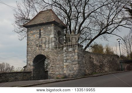 Defence Walls and Tower in Niemcza, Poland