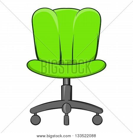 Office chair icon in cartoon style isolated on white background. Furniture symbol