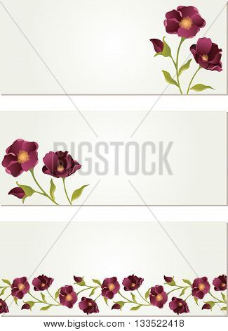 Scalable vectorial image representing a nature banners with flower, isolated on white.