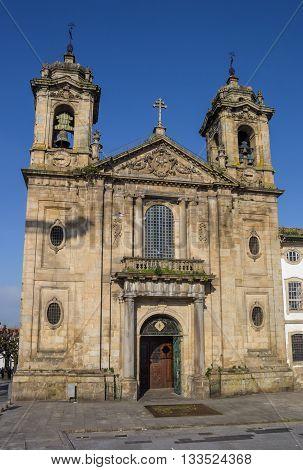 Populo Church In The Historical Center Of Braga
