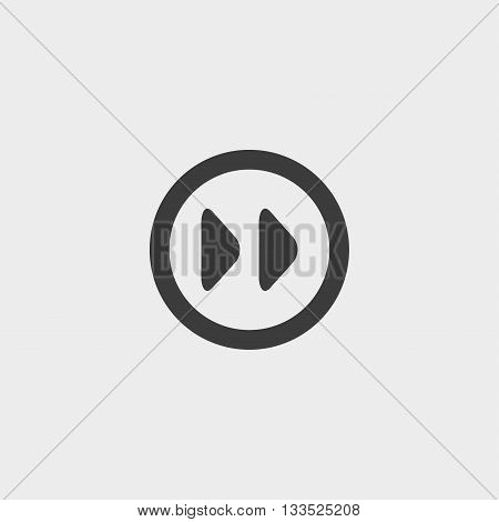 Fast forward Icon in a flat design in black color. Vector illustration eps10