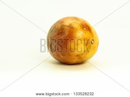 Closeup of passion fruit isolated on white