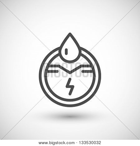 Generation of electricity line icon isolated on grey. Vector illustration