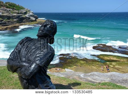 Sydney 25.10.2015. Sculpture by the Sea along the Bondi to Coogee coastal walk is the world's largest free to the public sculpture exhibitions.