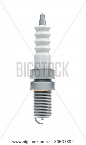 Spark plugs isolated on white with clipping path. 3d rendering