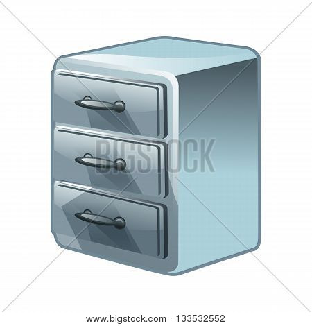 Chest of drawers vector illustration isolated on white background