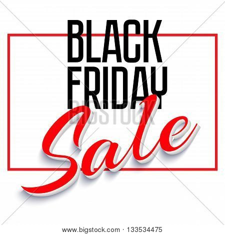 Sale Poster with Frame and Shadow. Sale and discounts template. Clearance Sale Banner, Black Friday Sales