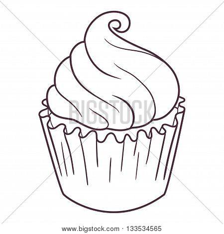 Illustration Of Fairy Cupcake