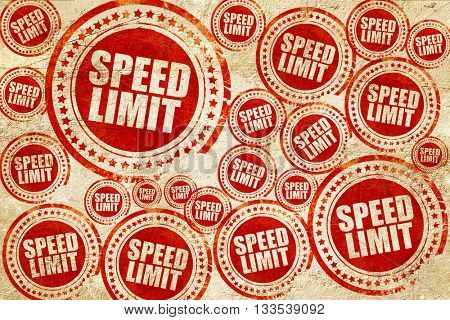 speed limit, red stamp on a grunge paper texture