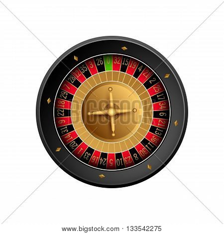 Casino background with cards chips craps and roulette. Vector illustration