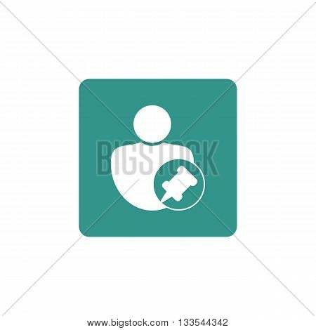 User Pin Icon In Vector Format. Premium Quality User Pin Symbol. Web Graphic User Pin Sign On Green