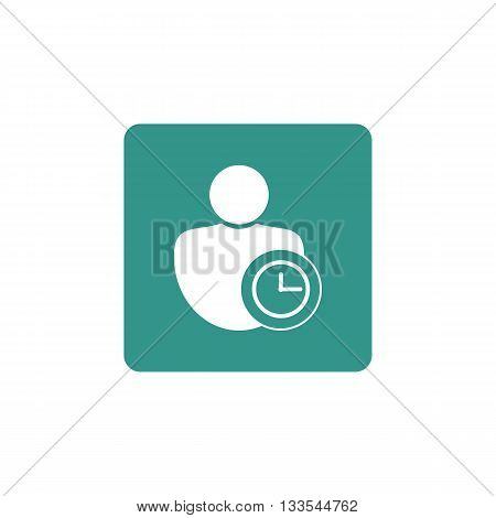 User Time Icon In Vector Format. Premium Quality User Time Symbol. Web Graphic User Time Sign On Gre