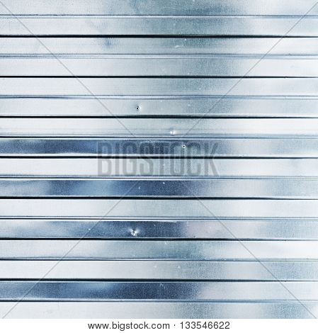 New Shining Corrugated Metal Fence Texture