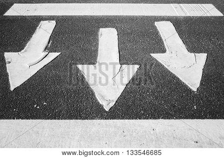 Arrows Over Asphalt, Pedestrian Crossing