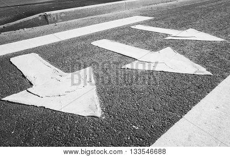 Pedestrian Crossing Road Marking With Arrows