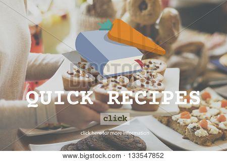 Quick Recipes Menu Cooking Food Concept