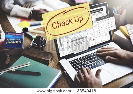 Check up Event To Do List Headline Concept