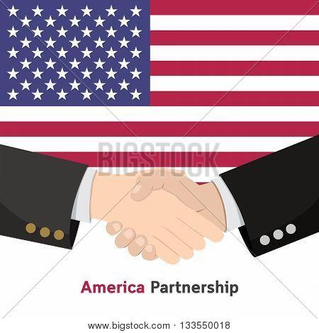 Shake Hand America Partnership Contact Business deal