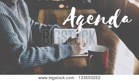 Agenda Meeting Plan Business Concept